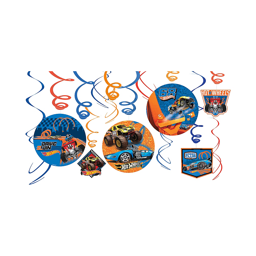 Hot Wheels Swirl Decorations 12ct Image #1