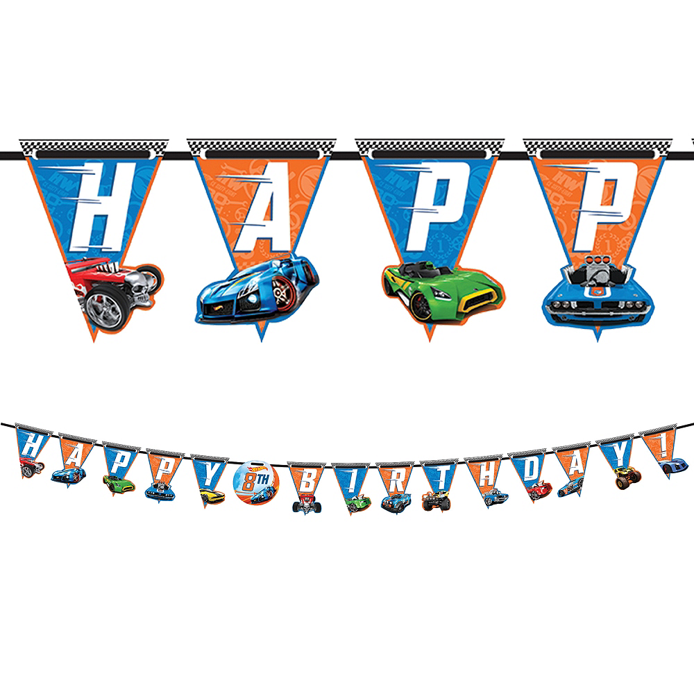 Hot Wheels Birthday Banner Kit Image #1