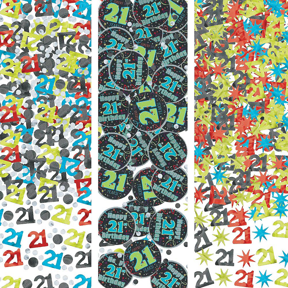 Brilliant 21st Birthday Confetti 1.2oz Image #1