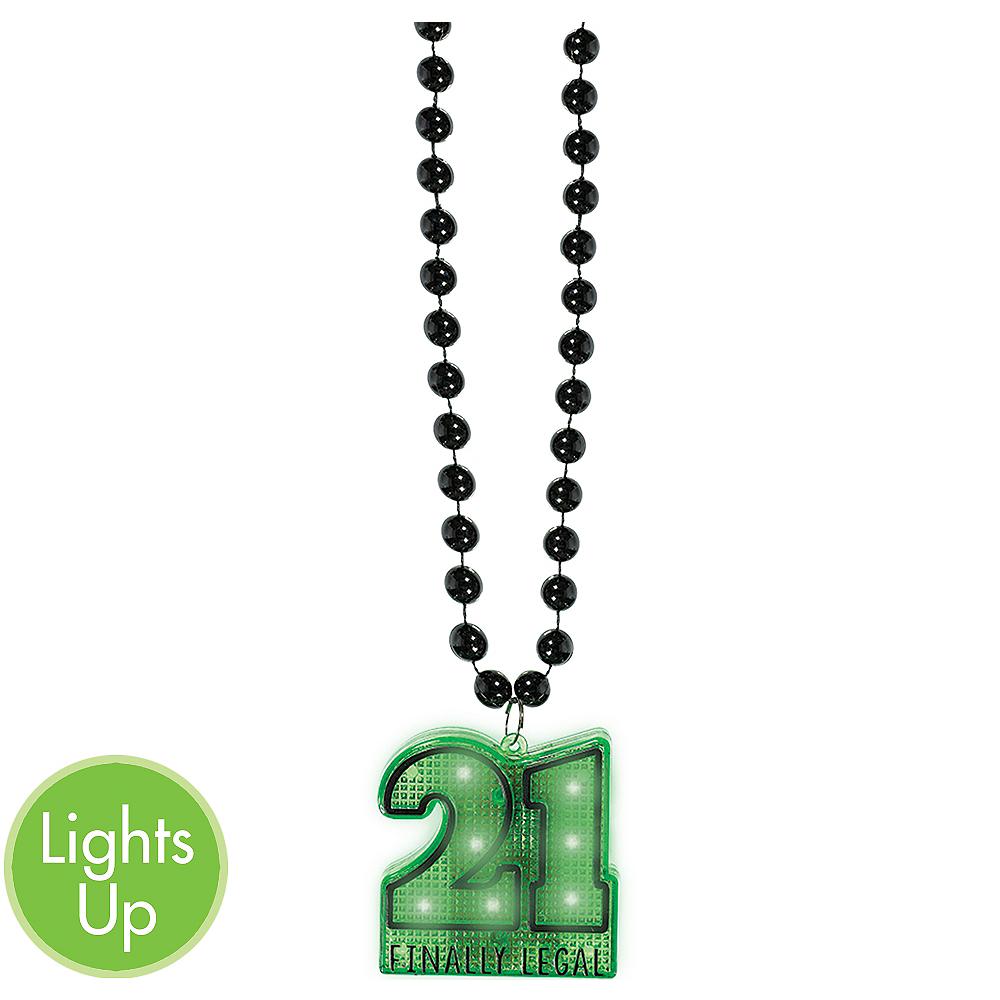 Light-Up 21st Birthday Pendant Bead Necklace Image #1