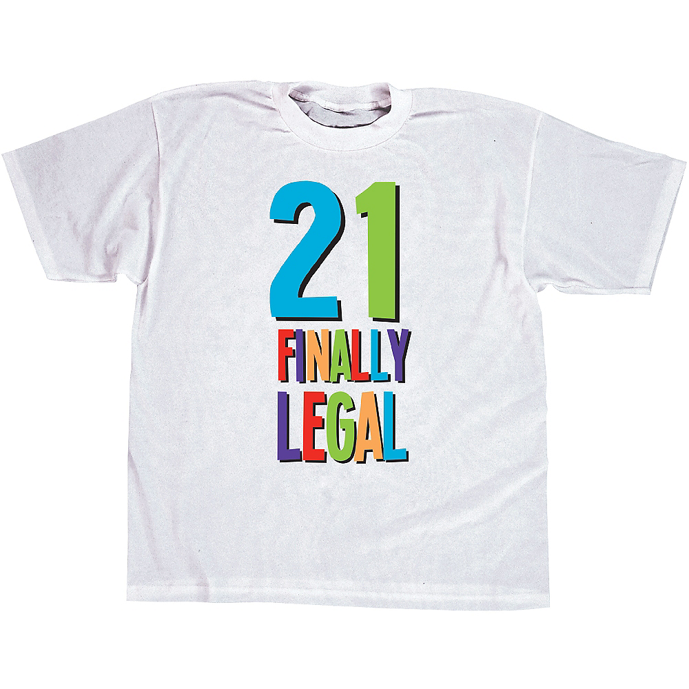 21st Birthday T Shirt Image 1