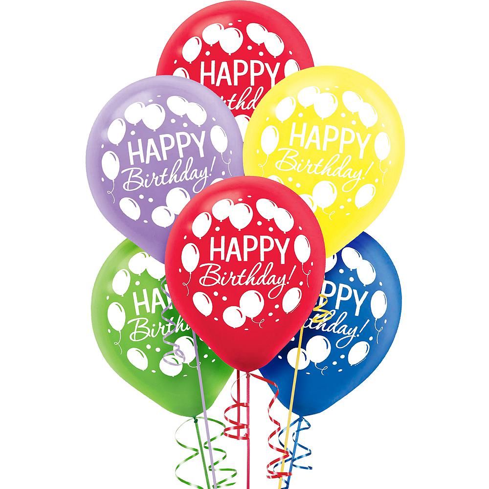 Rainbow Balloon Bash Birthday Balloons 72ct Image #1