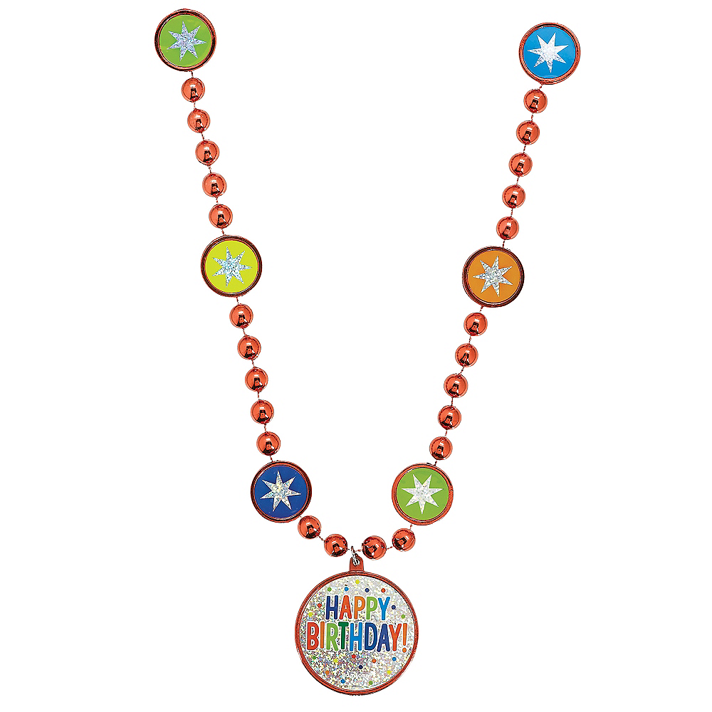 Nav Item for Rainbow Balloon Bash Birthday Necklace Image #1