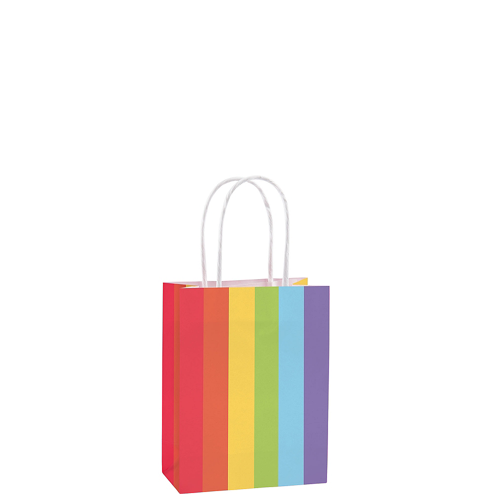 Medium Rainbow Kraft Bags 10ct Image #1