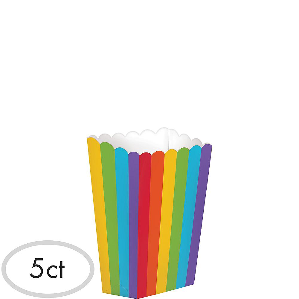 Mini Rainbow Popcorn Treat Boxes 5ct Image #1