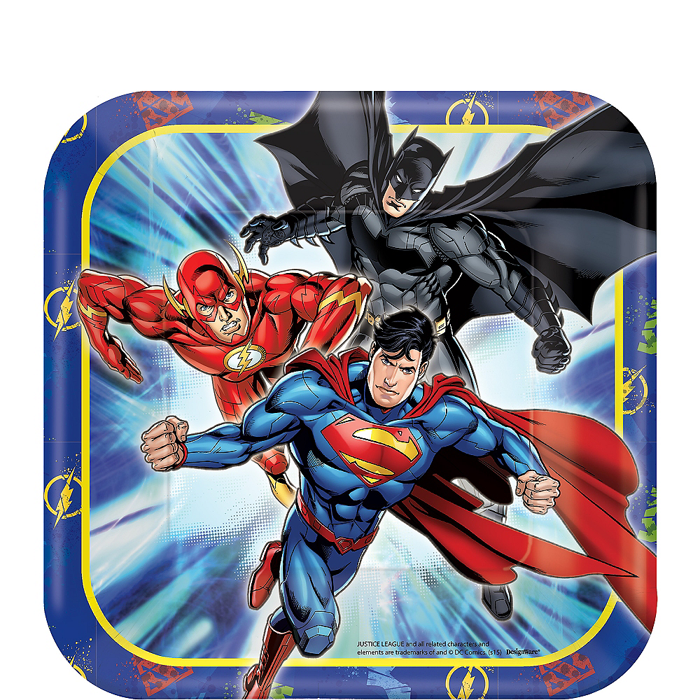 Justice League Dessert Plates 8ct Image #1