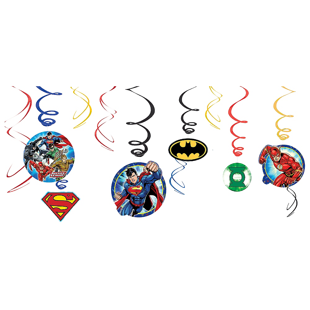 Justice League Swirl Decorations 12ct Image #1