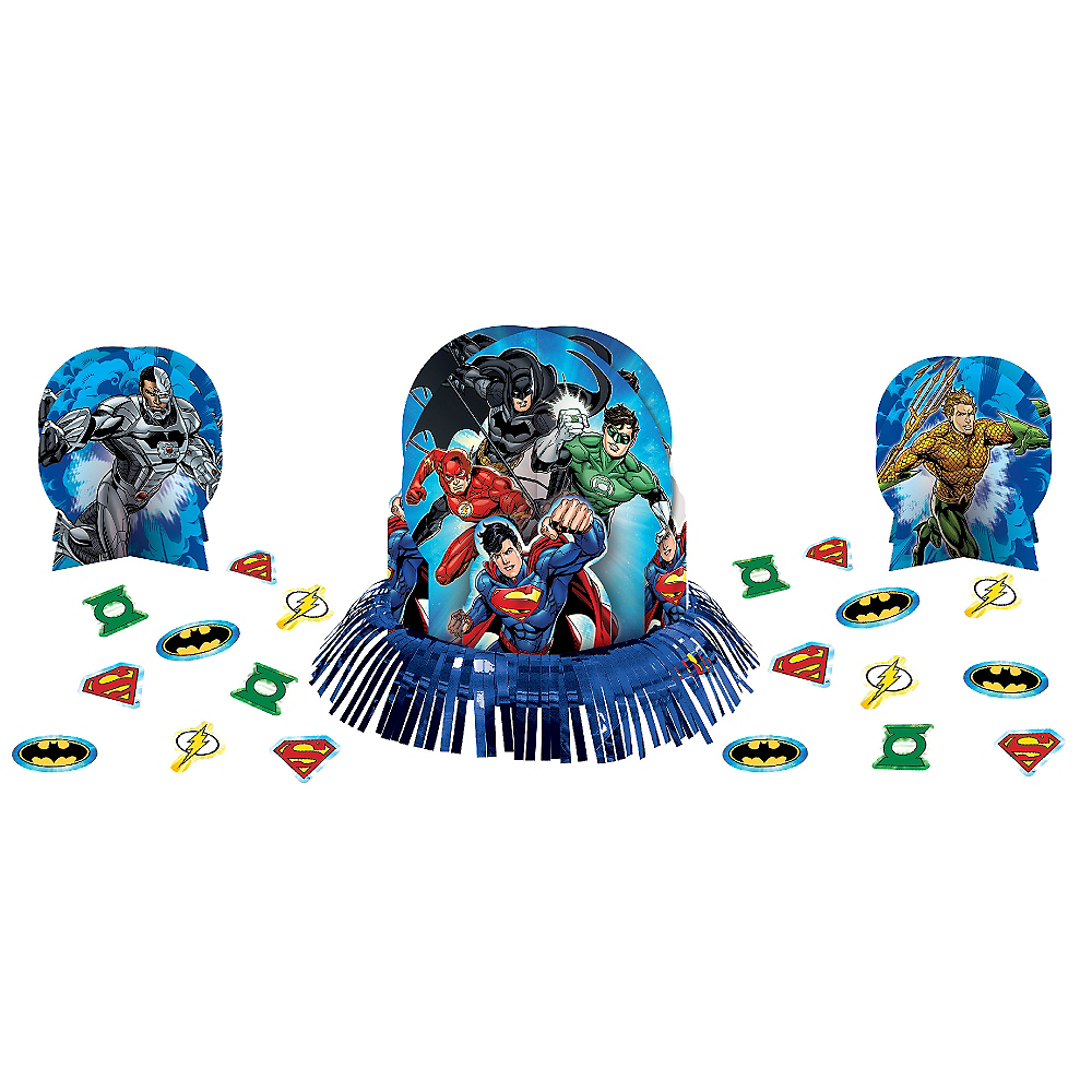 Justice League Table Decorating Kit 23pc Image #1
