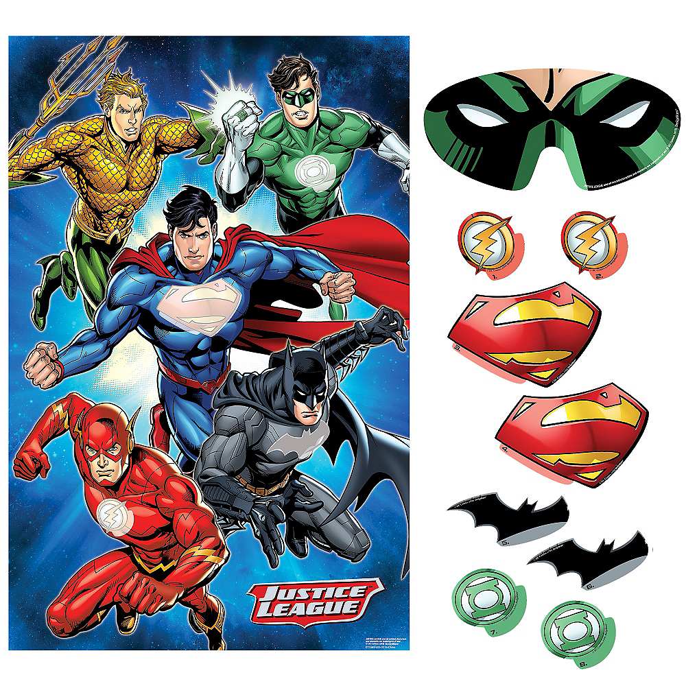 Justice League Party Game 10pc Image #1