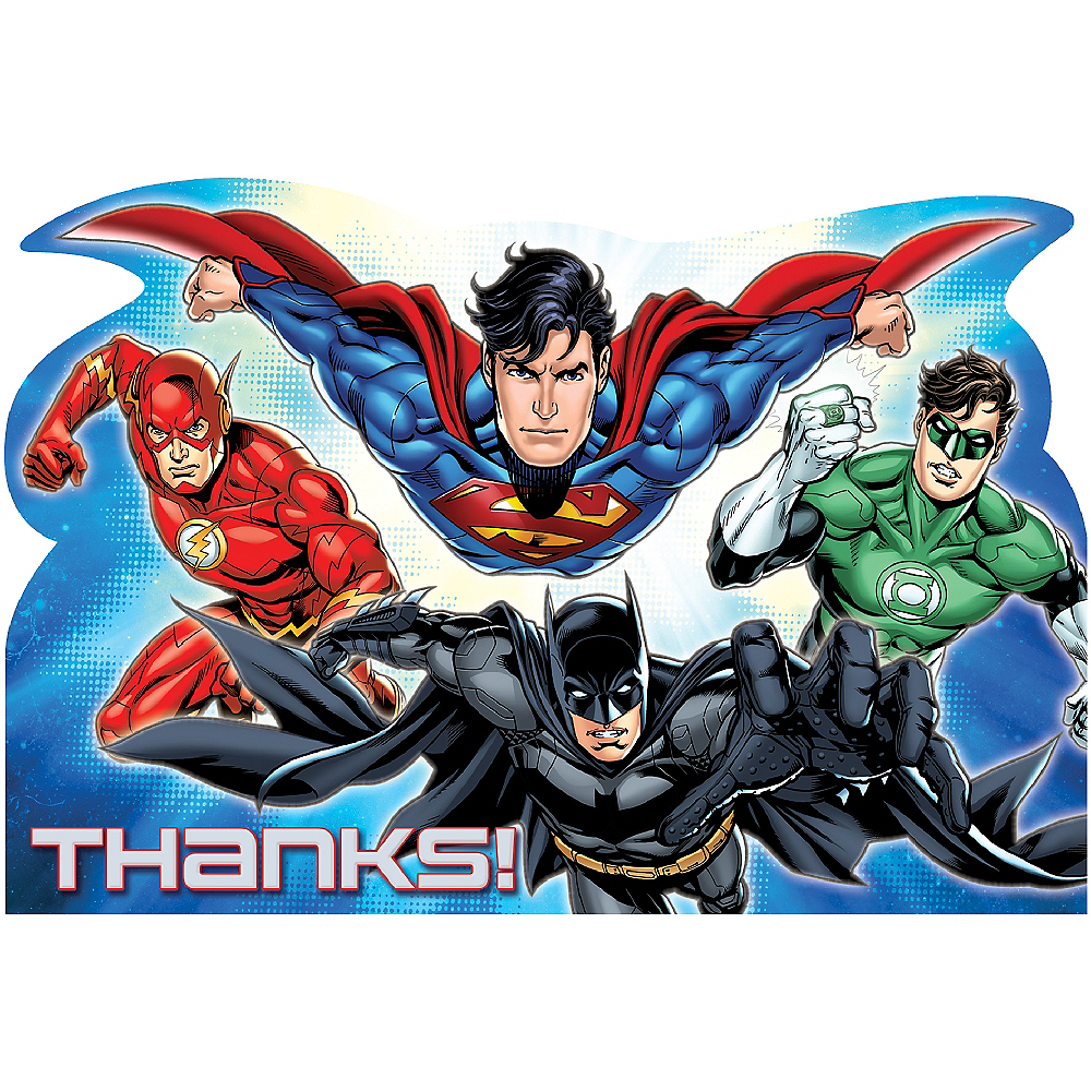 Justice League Thank You Notes 8ct Image #1