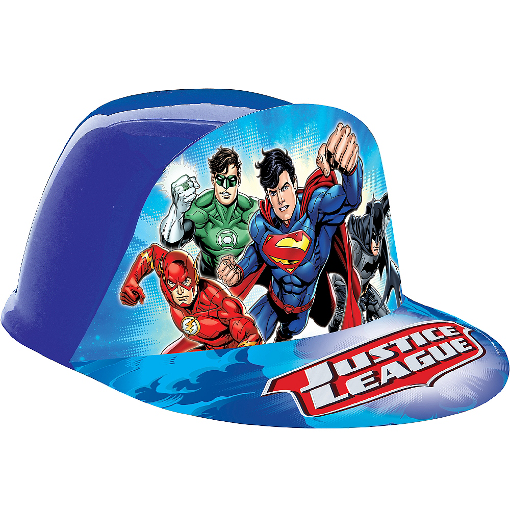 Nav Item for Justice League Plastic Hat Image #1