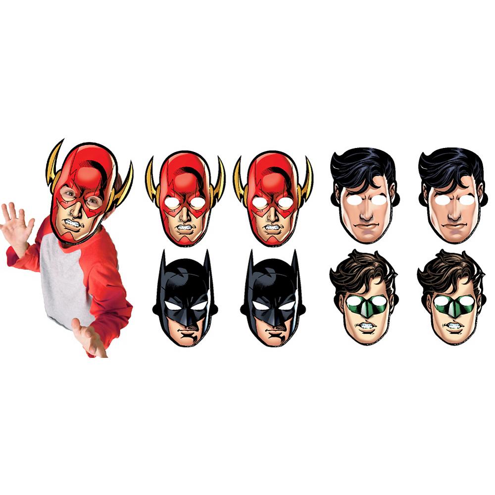 Justice League Masks 8ct Image #1