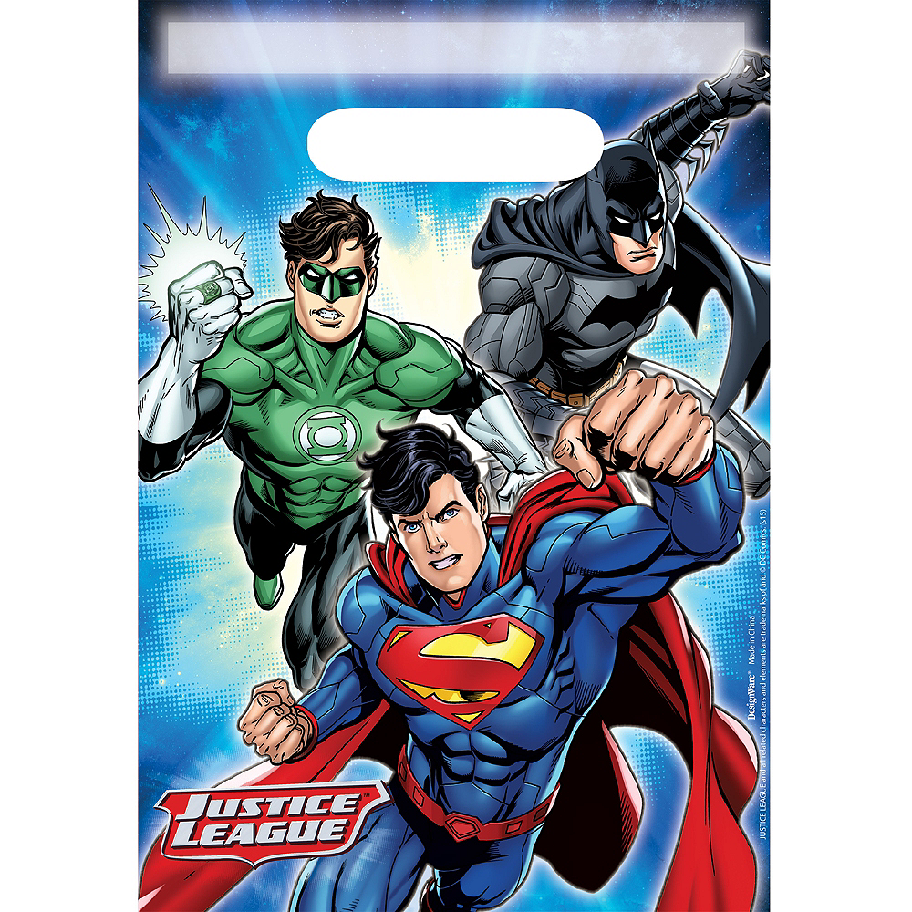 Nav Item for Justice League Favor Bags 8ct Image #1