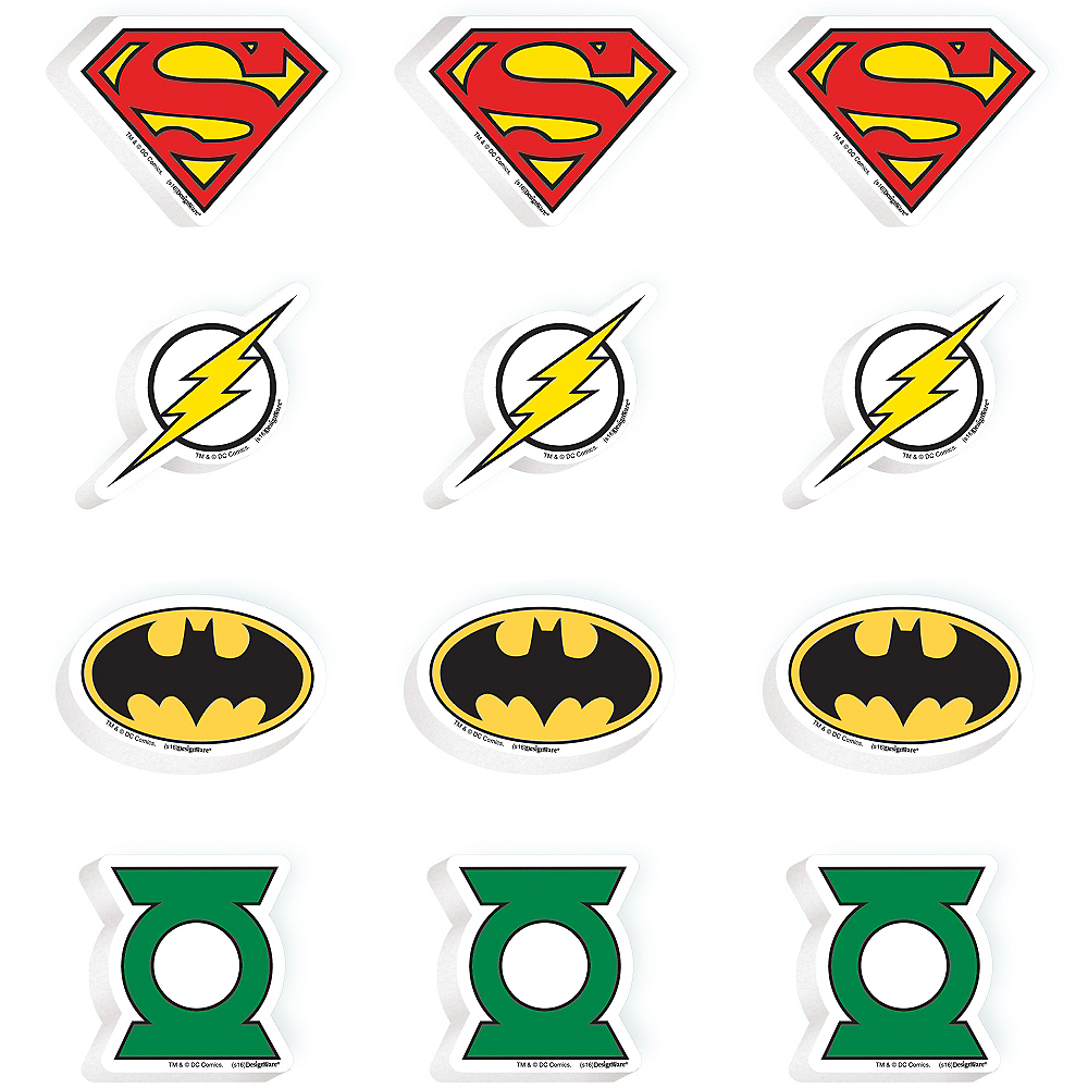 Justice League Erasers 12ct Image #1
