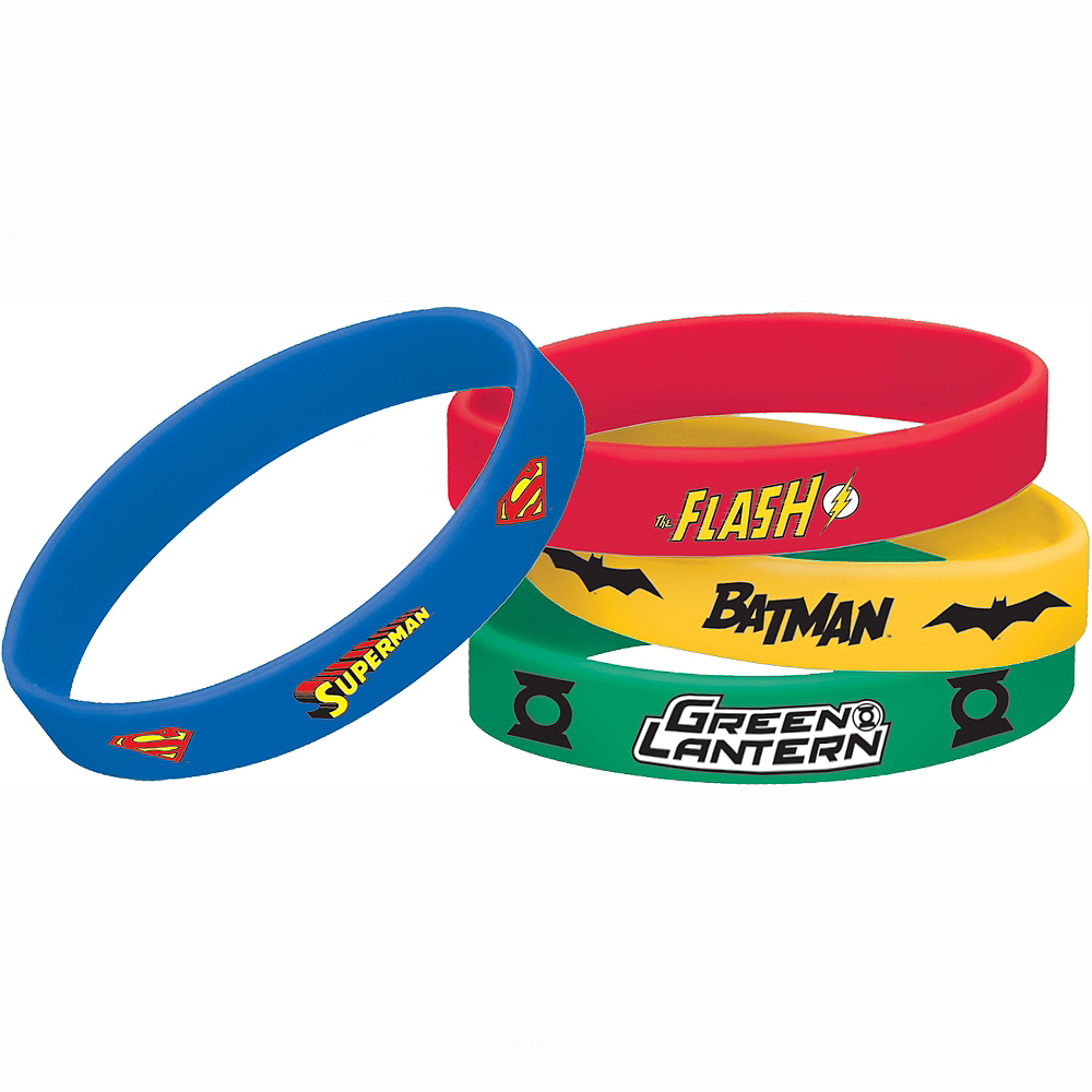 Justice League Wristbands 4ct Image #1