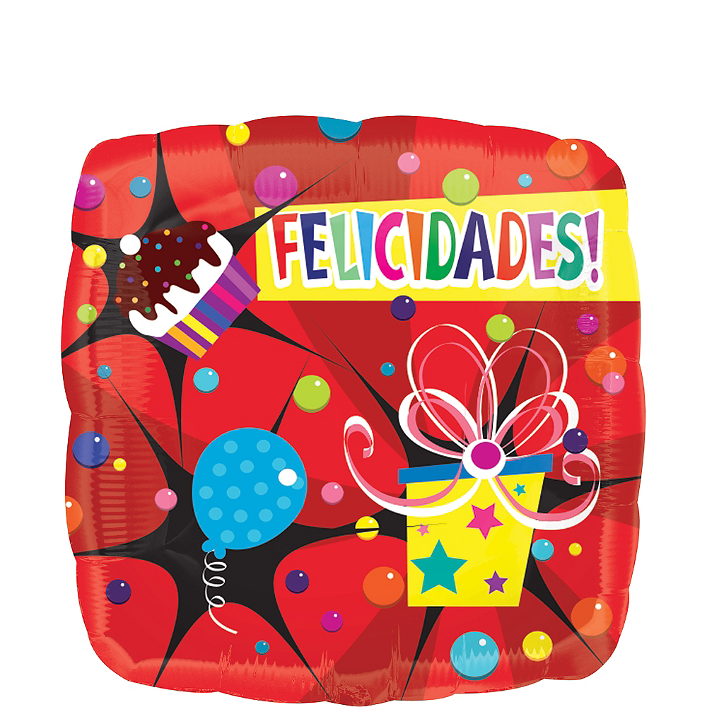 Felicidades Balloon - Bright Bubbly, 17in Image #1