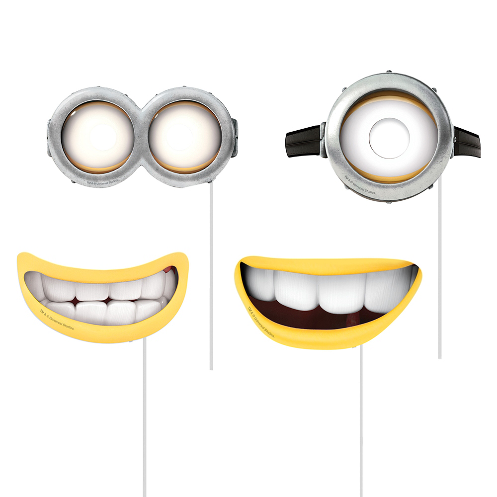 Despicable Me Photo Booth Props 8ct Image #3