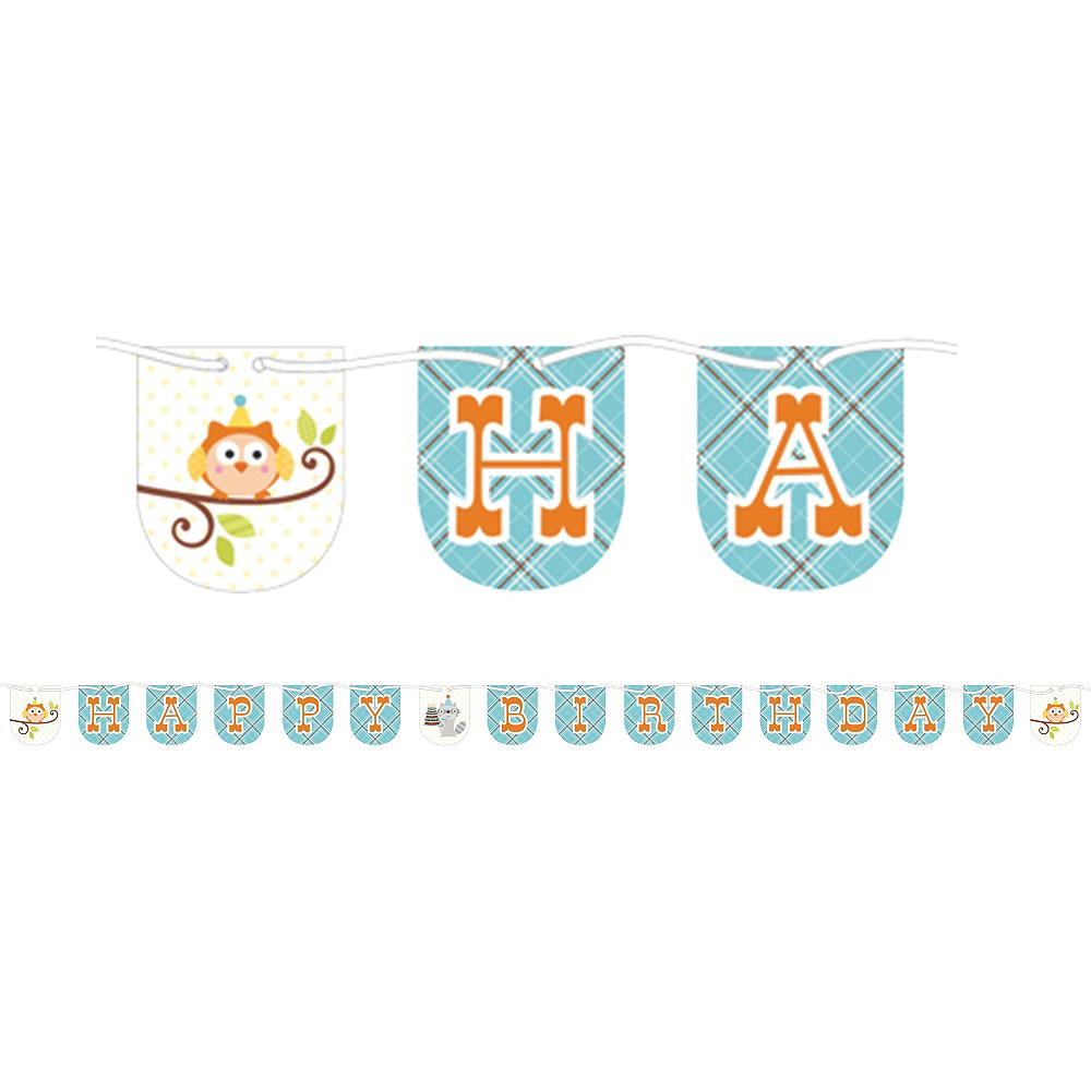 Boy Birthday Banner - Happi Woodland Image #1