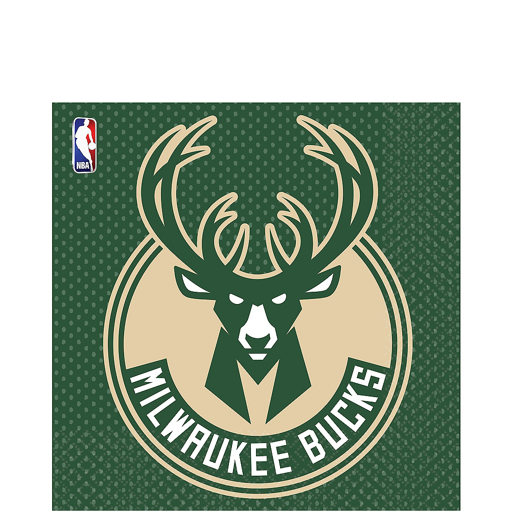 Milwaukee Bucks Lunch Napkins 16ct Image #1