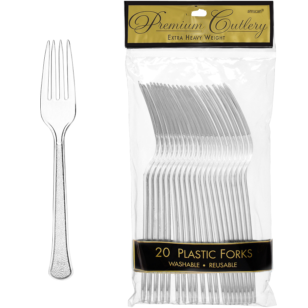 Nav Item for CLEAR Premium Plastic Forks 20ct Image #1