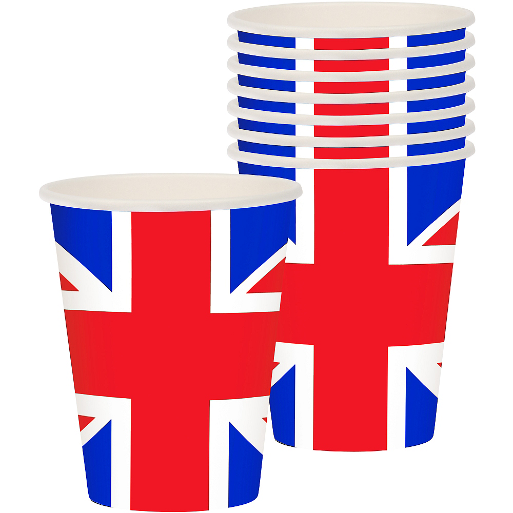 Union Jack Cups 8ct - Great Britain Image #1