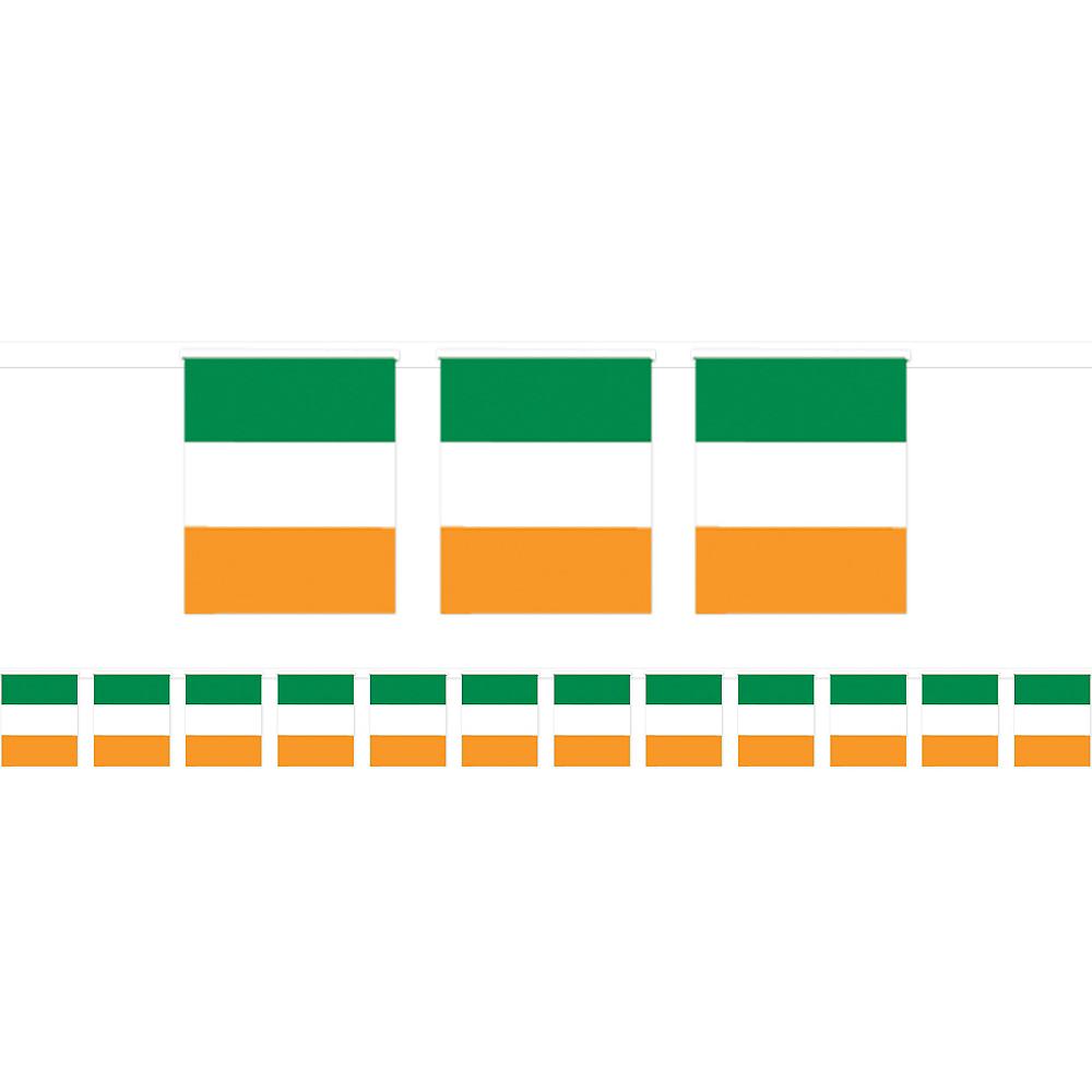 Green, White & Orange Flag Pennant Banner