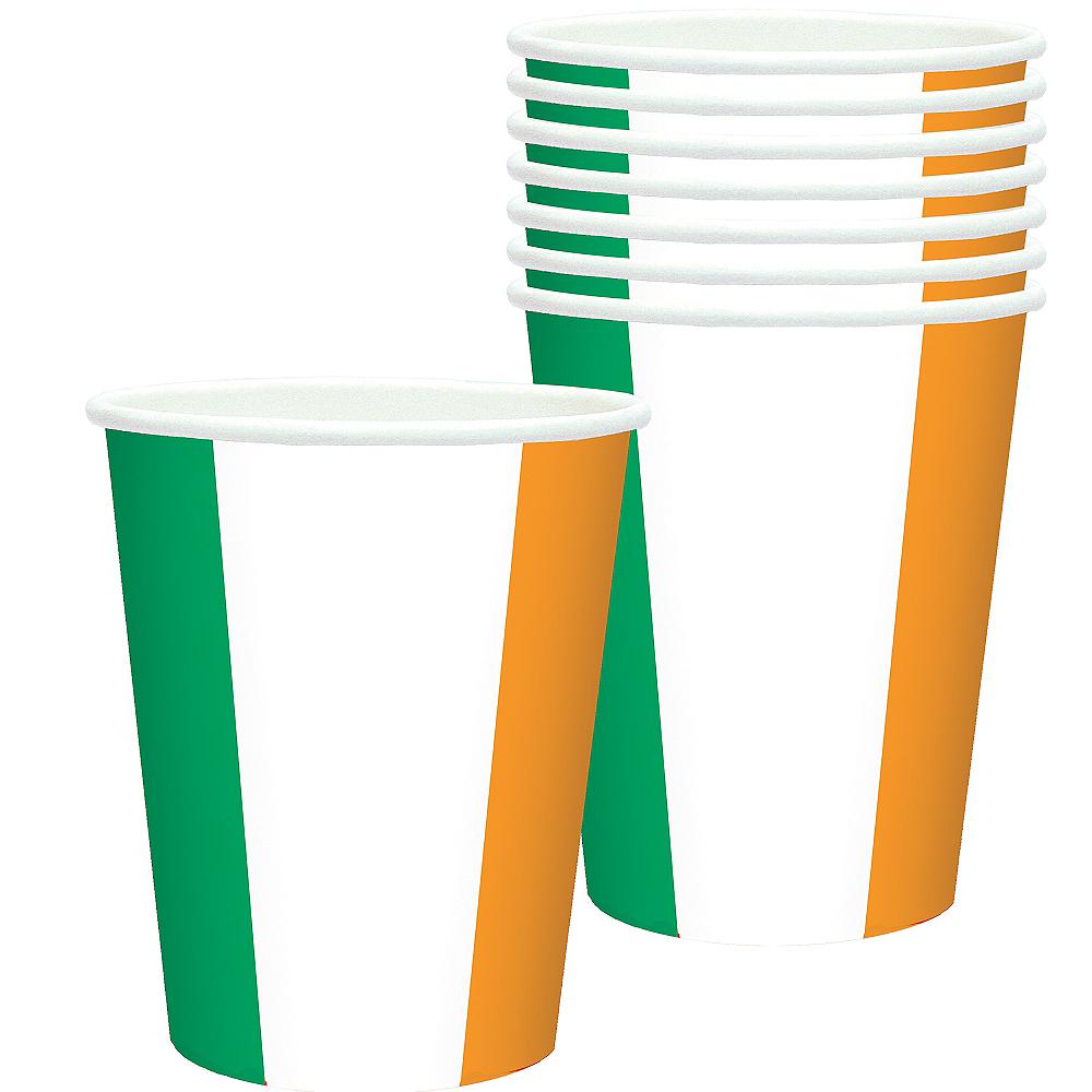 Green, White & Orange Cups 8ct Image #1
