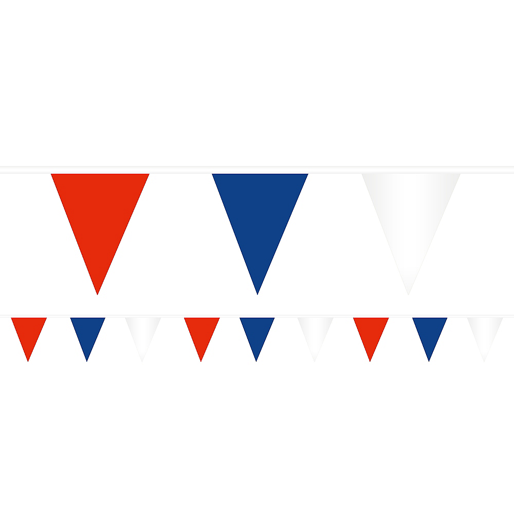 Red, White & Blue Pennant Banner Image #1