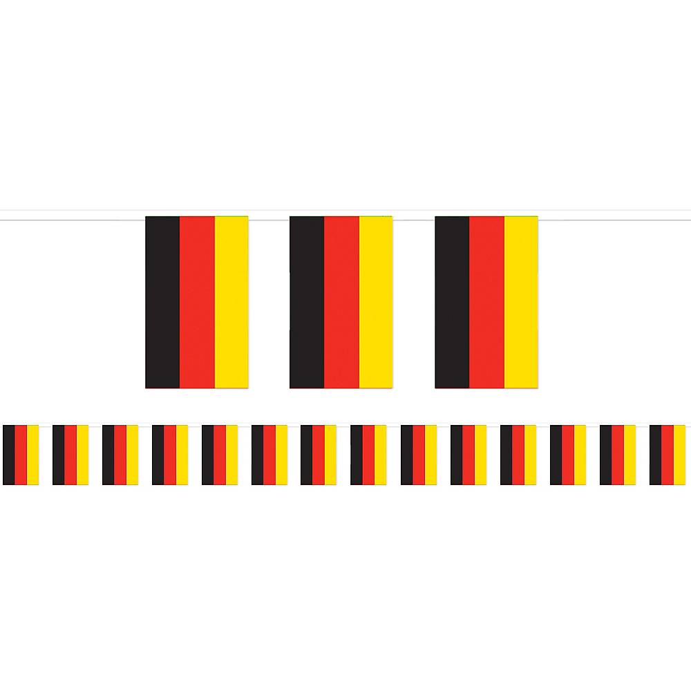Black, Red & Yellow Flag Pennant Banner Image #1
