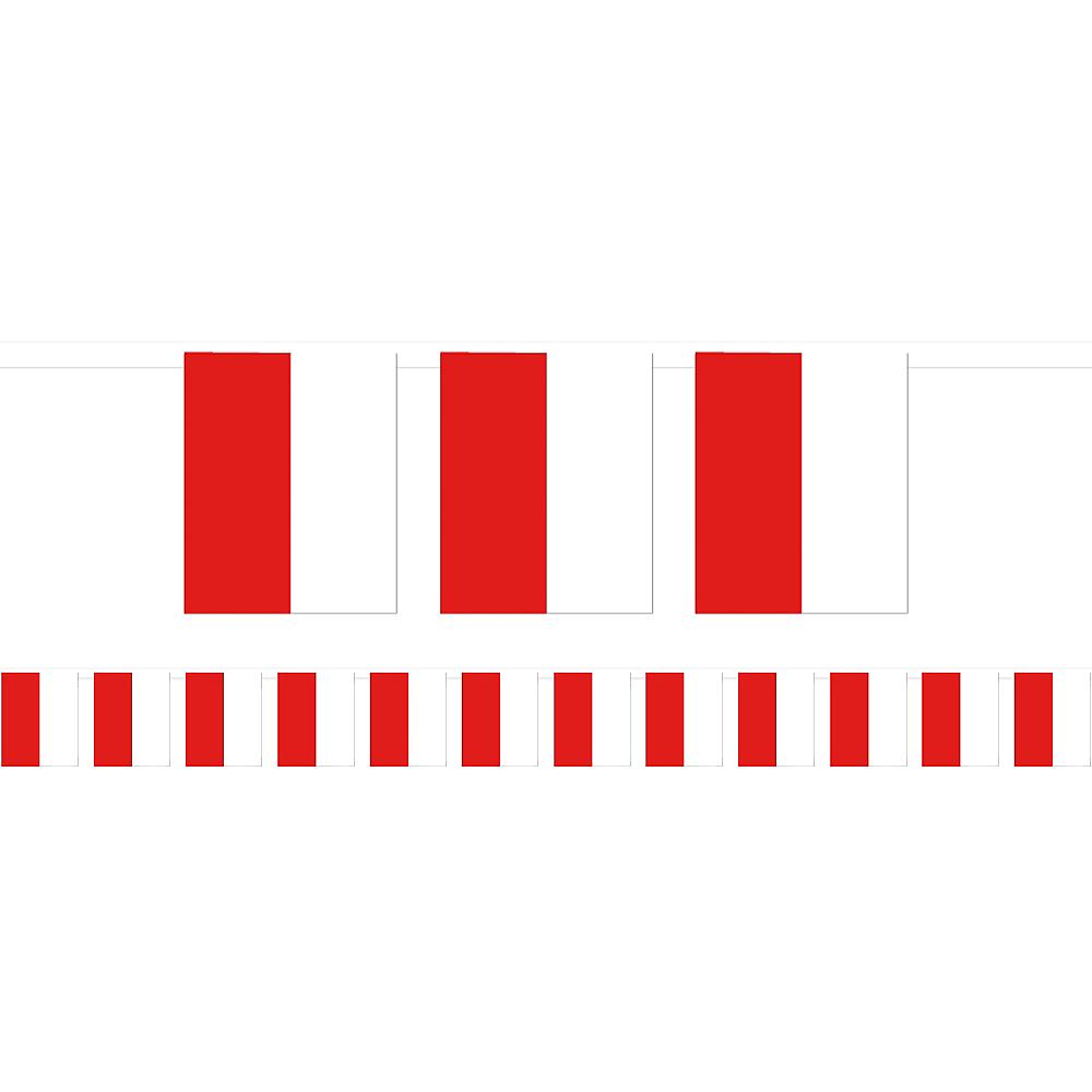 Red & White Flag Pennant Banner Image #1