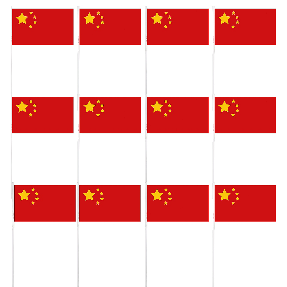 Chinese Flags 12ct Image #1