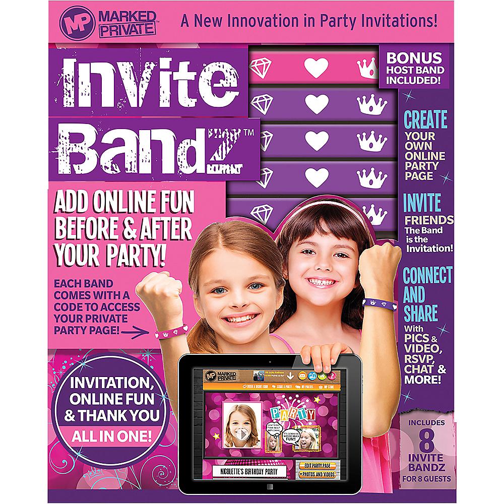 Princess Invite Bandz Party Invitation Wristbands for 8 Image #2