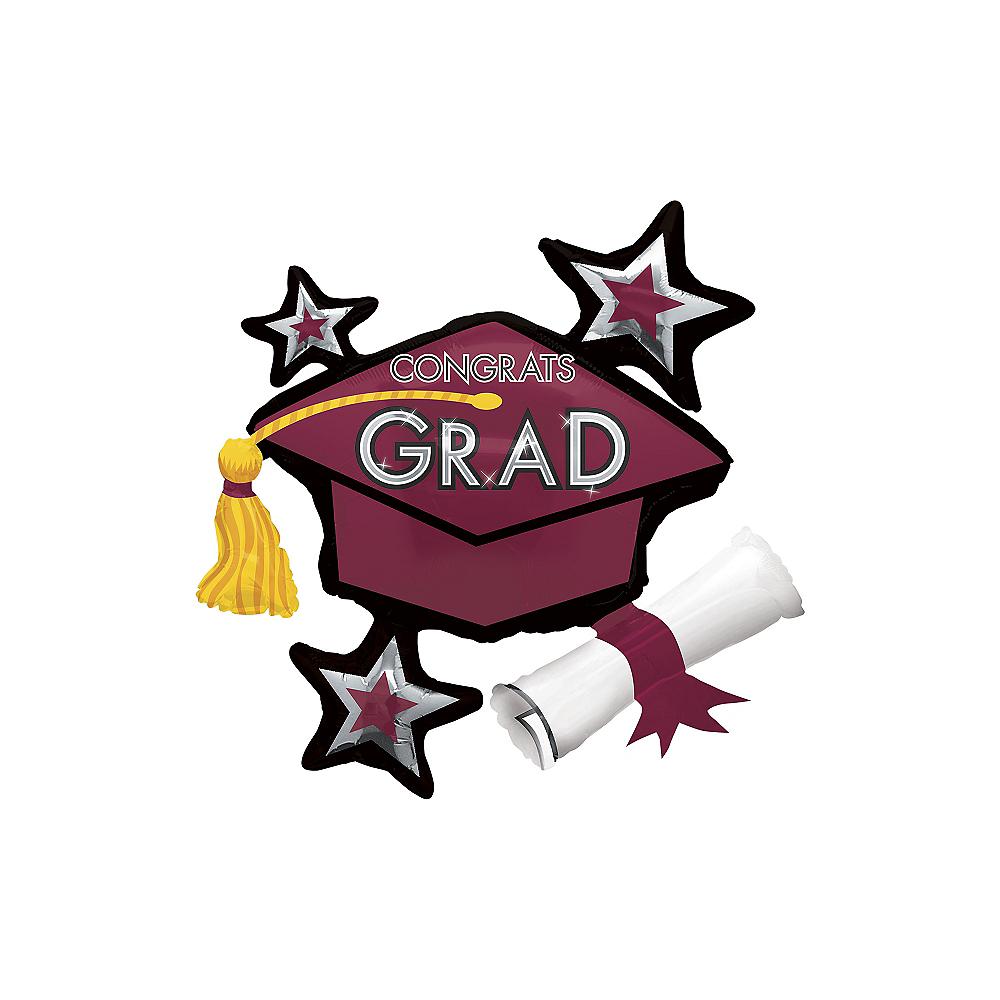 Berry Star Graduation Cap Balloon Image #1