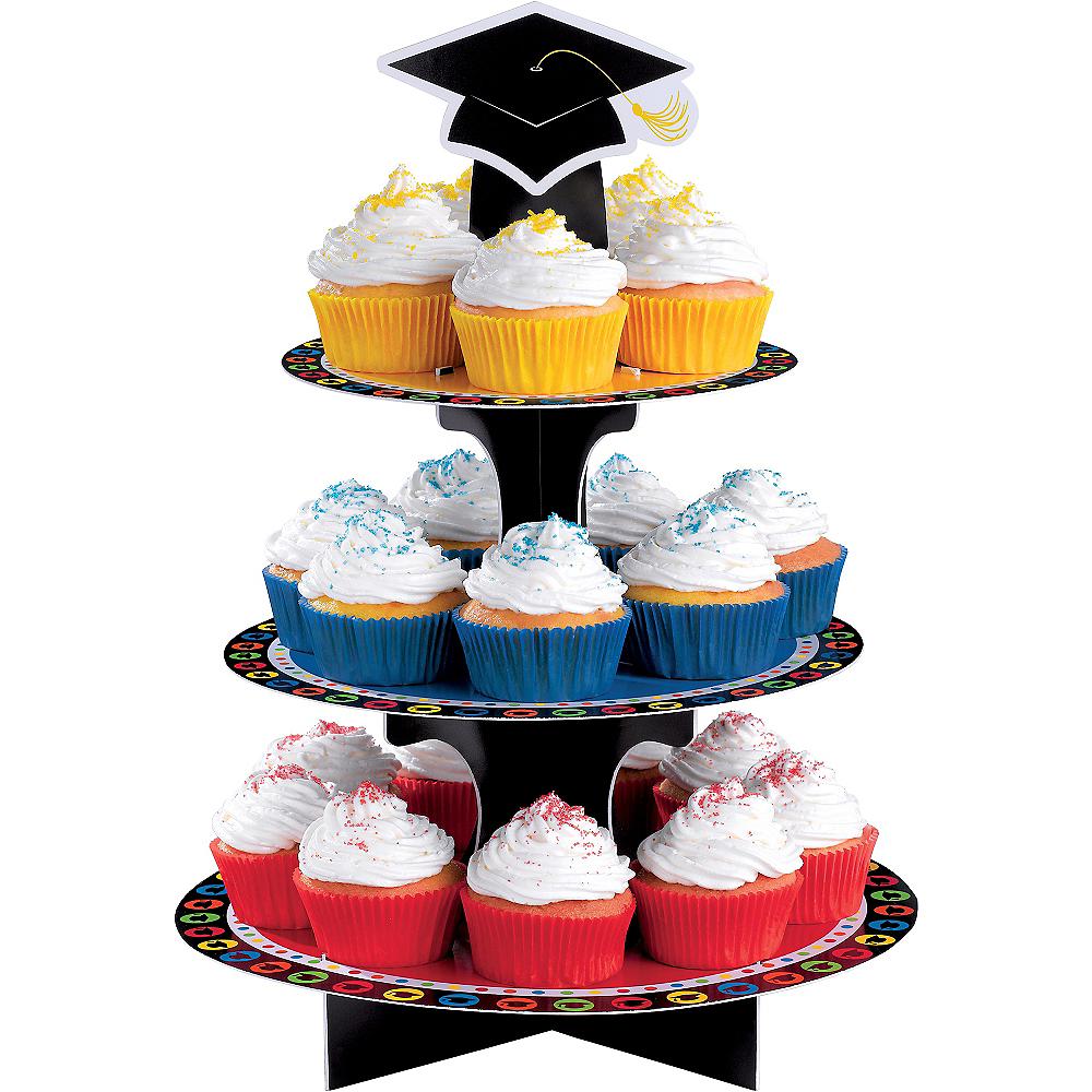Multicolor Graduation Cupcake Stand Image #1