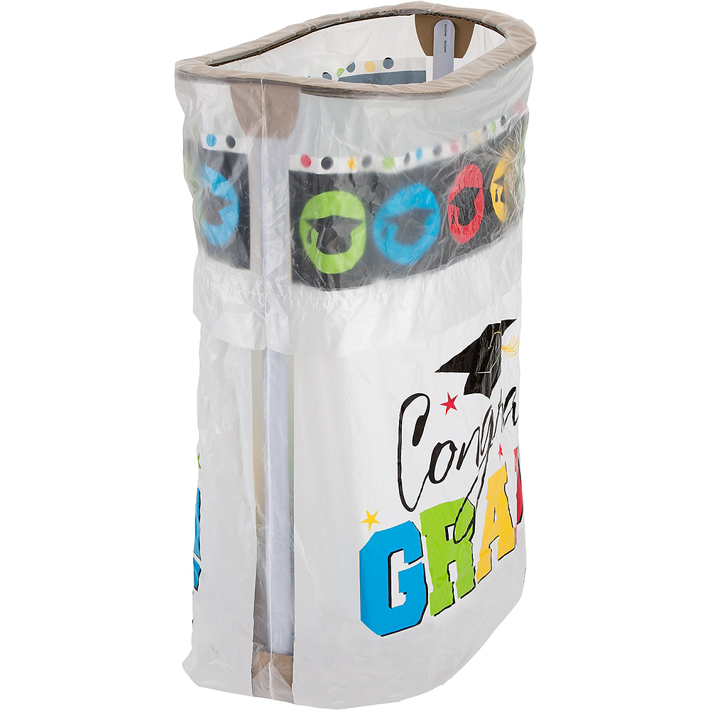 Multicolor Graduation Pop-Up Trash Bin Image #1