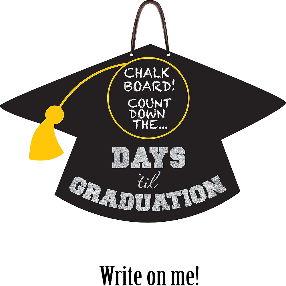 Graduation Countdown Chalkboard Sign Image #1