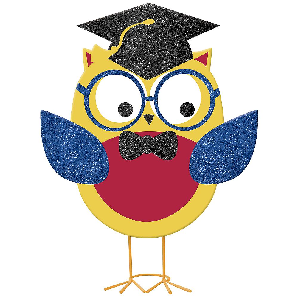 Glitter Graduation Owl 7 1/2in x 10 1/2in - Schoolhouse Chalkboard ...