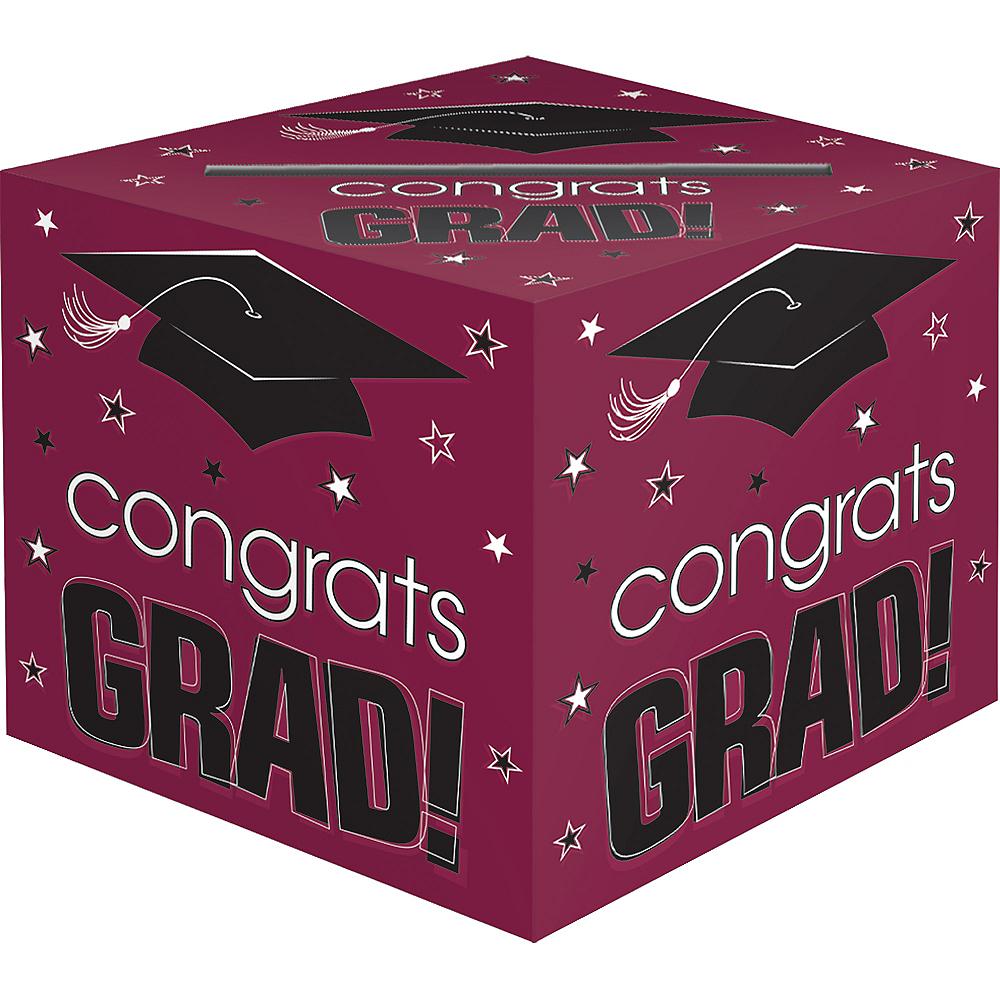 Berry Graduation Card Holder Box - Congrats Grad Image #1