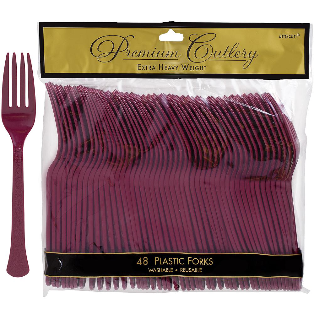 Berry Premium Plastic Forks 48ct Image #1