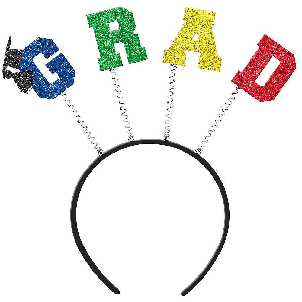 Glitter Multicolor Graduation Head Bopper Image #1