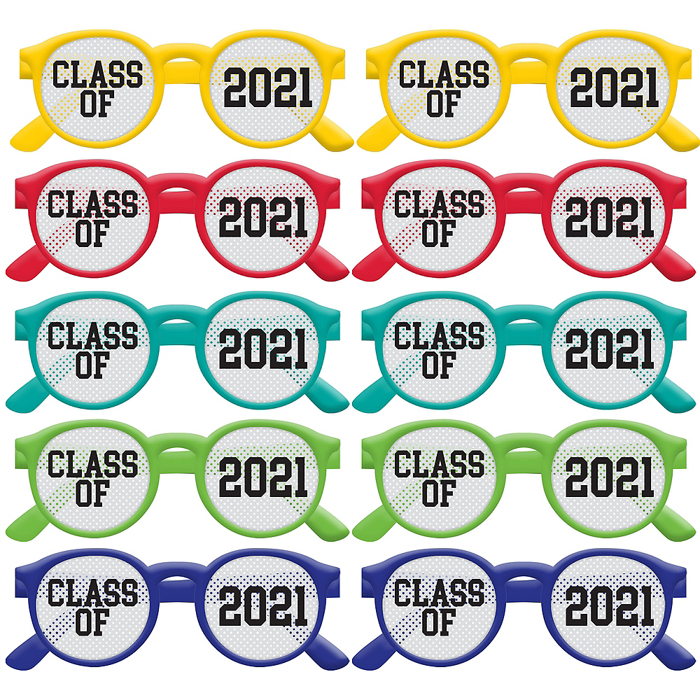 Multicolor Class of 2019 Printed Glasses 10ct Image #1