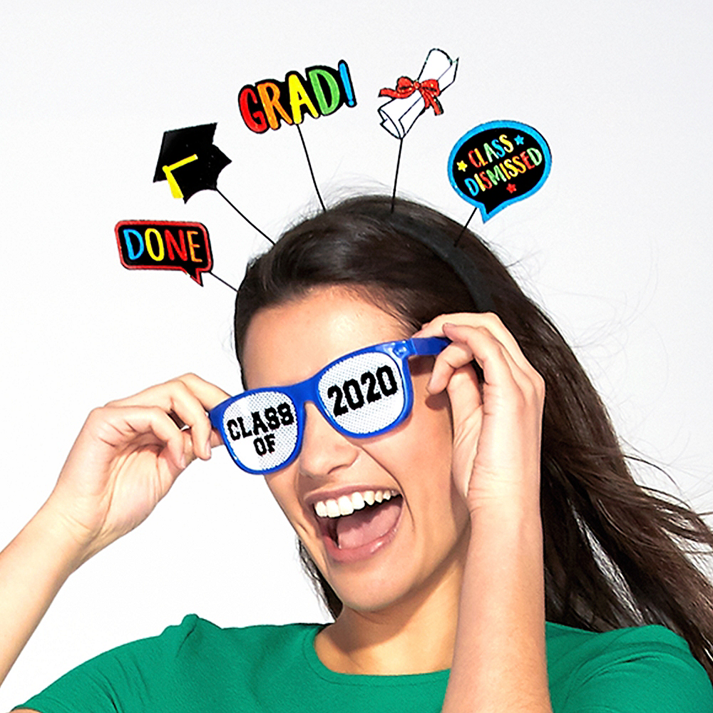 Multicolor Class of 2019 Printed Glasses 10ct Image #2