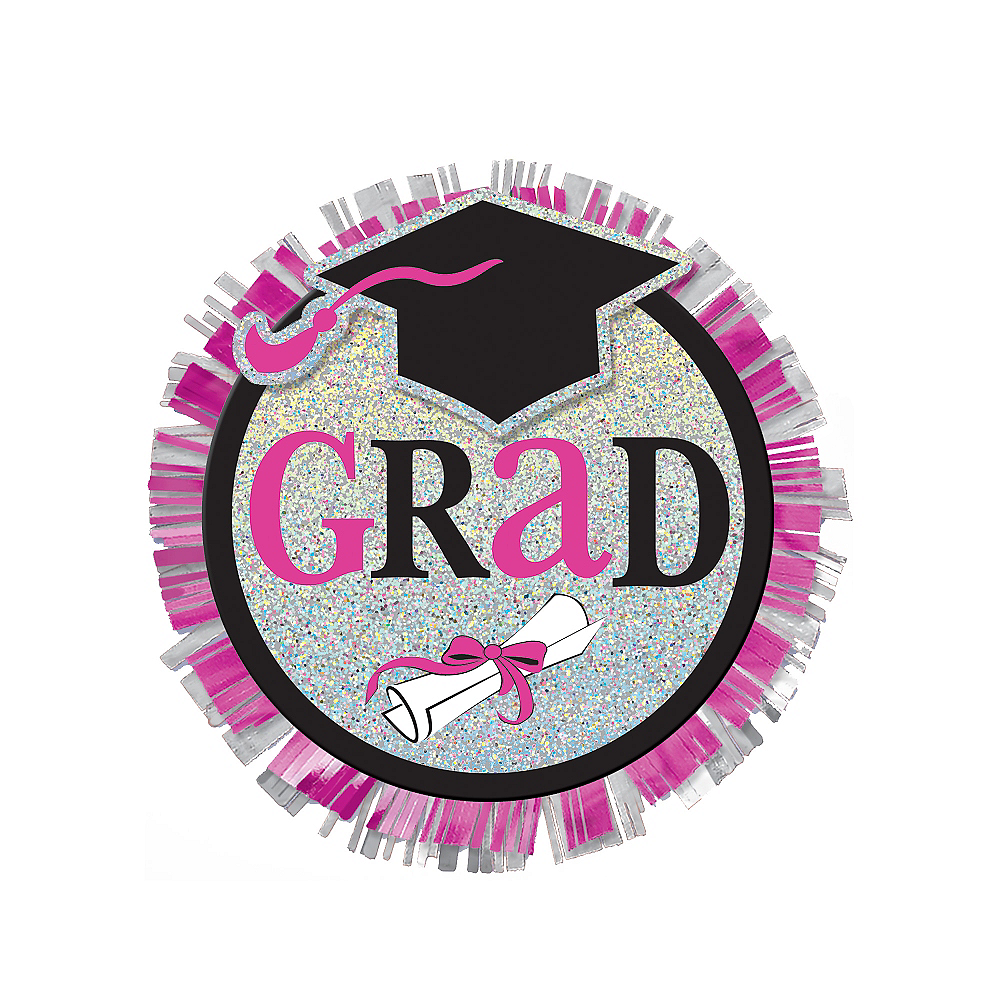 Sparkling Celebration Graduation Button Image #1