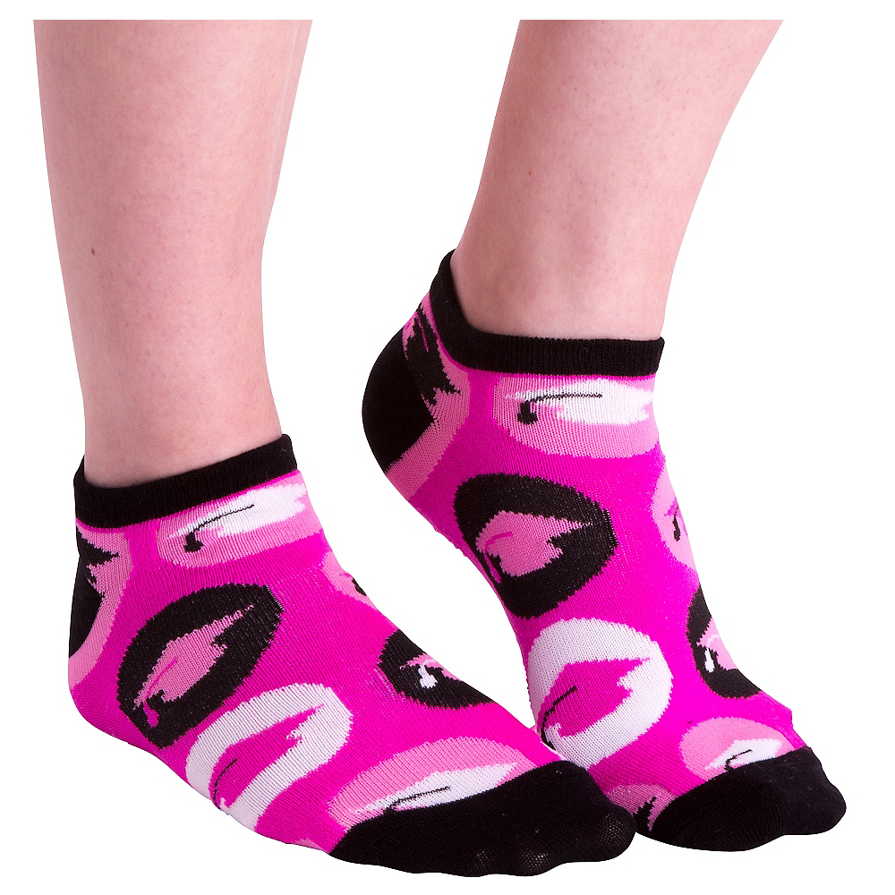 Nav Item for Pink Graduation Cap Ankle Socks Image #1