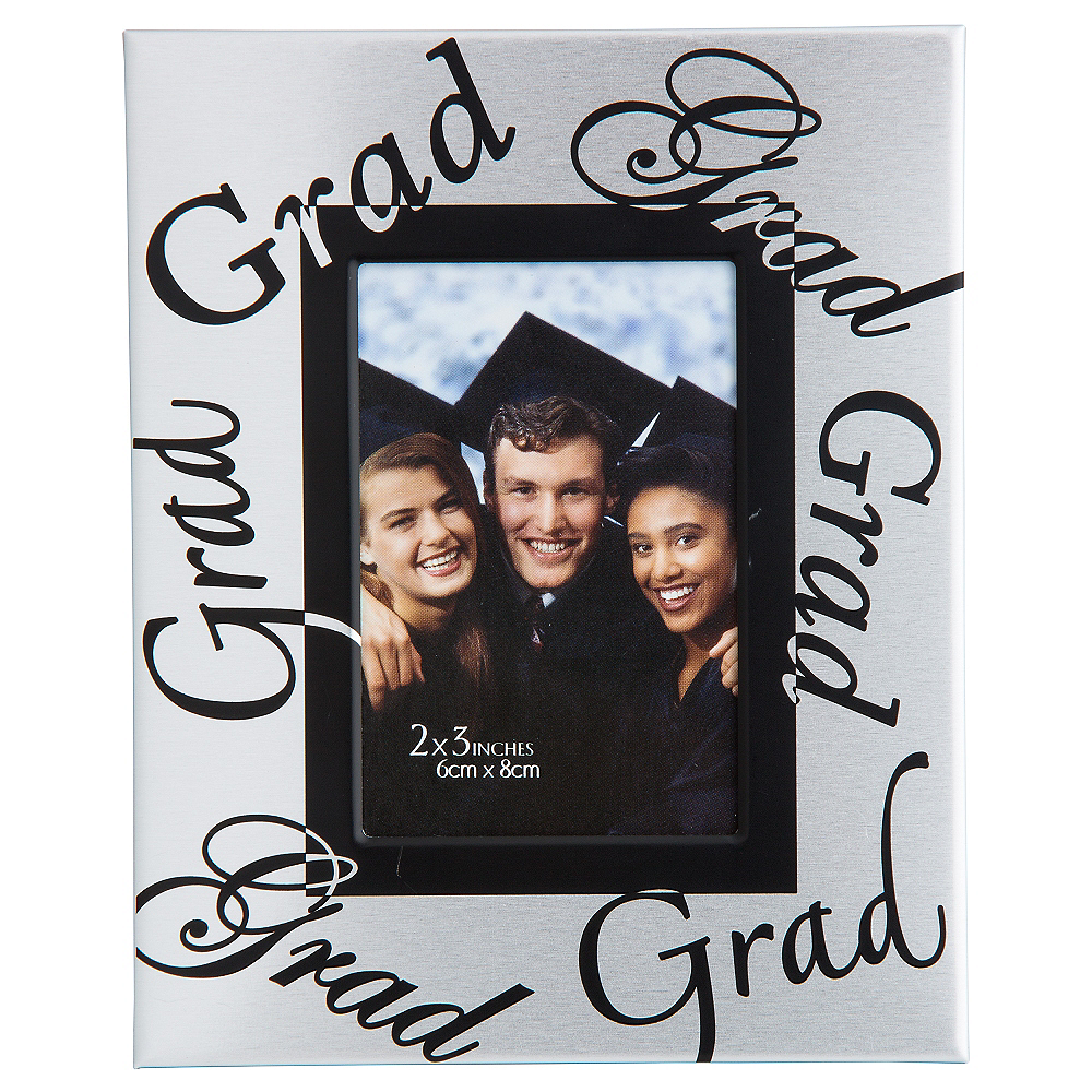 Mini Silver Graduation Photo Frame Image #1
