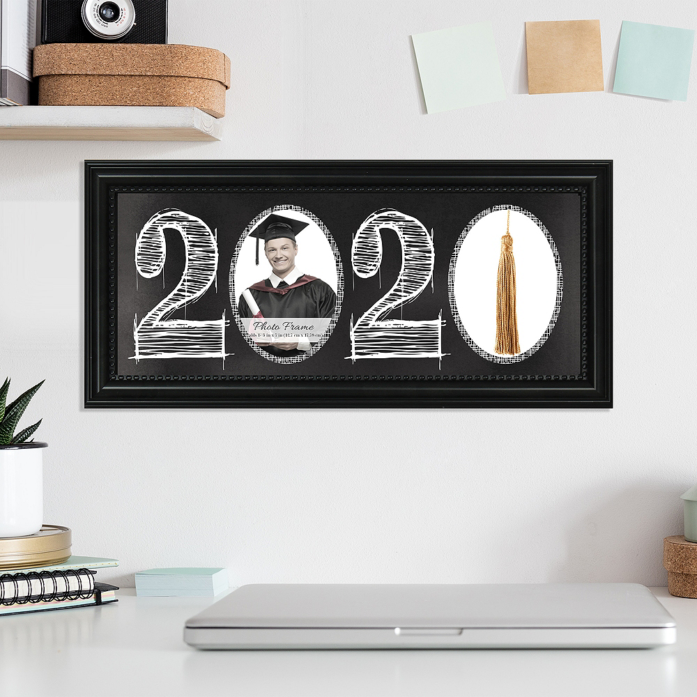 Black 2020 Graduation Photo Frame & Tassel Holder Image #2