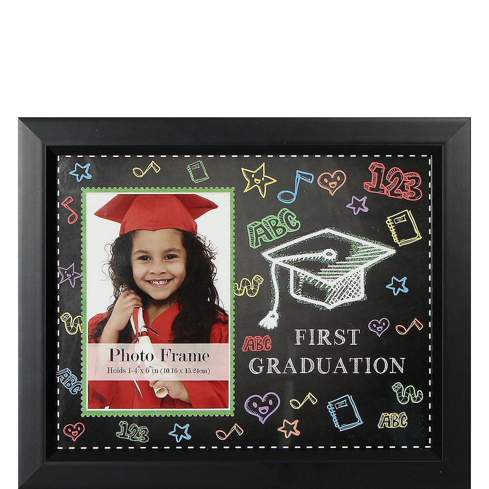 Party City Graduation Picture Frames: Black First Graduation Photo Frame 11 1/2in X 10in
