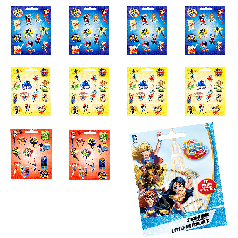 DC Super Hero Girls Sticker Book 9 Sheets Image #1