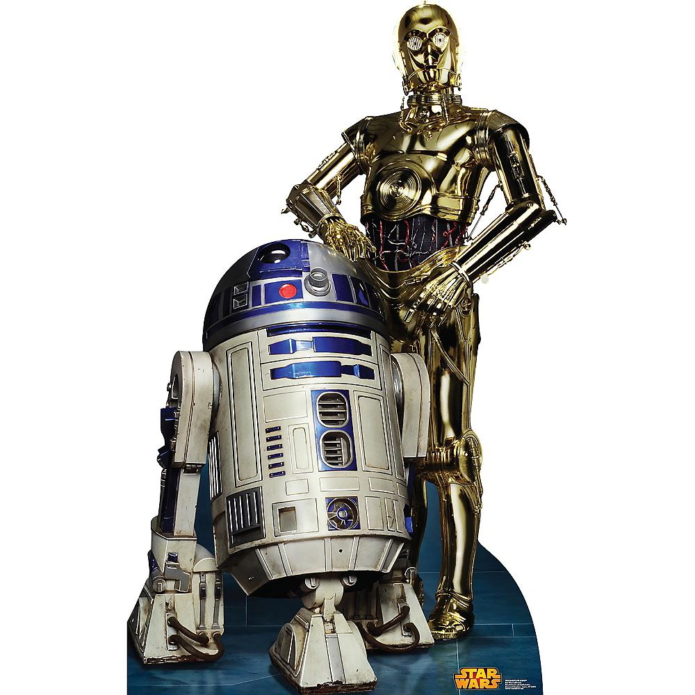 C-3PO & R2-D2 Life-Size Cardboard Cutout - Star Wars Image #1