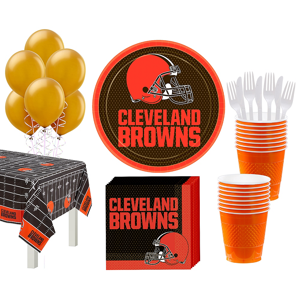 Super Cleveland Browns Party Kit for 18 Guests Image #1